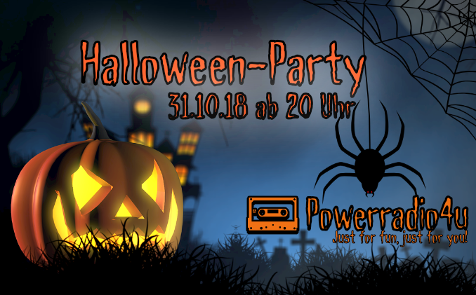 31.10.2018 ab 20:00 Uhr: Die Halloween-Party auf Powerradio4u (Bild Copyright David Heuer / Pixabay)